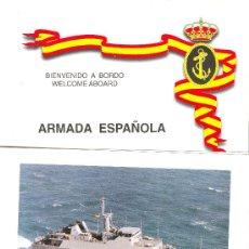 Militaria: BIENVENIDA A BORDO. CAZAMINAS TURIA (M-34). MARINA. NAVAL. ARMADA. BARCO. BARCOS. Lote 30853998