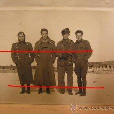 Militaria: + DIVISION AZUL. FOTO ORIGINAL DE 4 DIVISIONARIOS. ALEMANIA.14-01-1942. TODAVIA CON UNIFORME ESPAÑOL. Lote 30991447