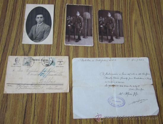 LOTE GUERRA CIVIL .. 1 PASE – 1 TARJETA POSTAL – 3 FOTOGRAFÍAS (Militar - Fotografía Militar - Guerra Civil Española)