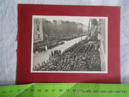 FOTO DESFILE TROPAS WEHRMACHT ANTE AUTORIDADES (Militar - Fotografía Militar - II Guerra Mundial)