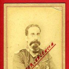 Militaria: FOTOGRAFIA MILITAR, TARJETA VISITA, FOTO GUERRA CUBA, J. MOLINA MATANZAS, ORIGINAL, P3. Lote 31224998