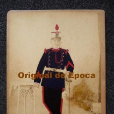 Militaria: (JX-89)FOTOGRAFIA COLOREADA CABO DE ARTILLERIA MONTADA REG.Nº4 REALIZADA EN MADRID. Lote 31390916