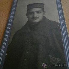 Militaria: FOTOGRAFÍA SOLDADO CAZADORES DE MONTAÑA DEL EJÉRCITO ESPAÑOL. REGIMIENTO Nº 16. Lote 31401572