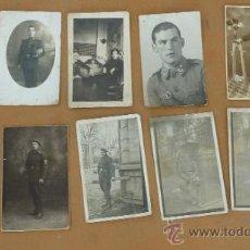Militaria: LOTE DE 9 FOTOGRAFIAS DE MILITARES ALFONSINOS ANTIGUAS. RARAS, HAY ZAPADORES... . Lote 31464197