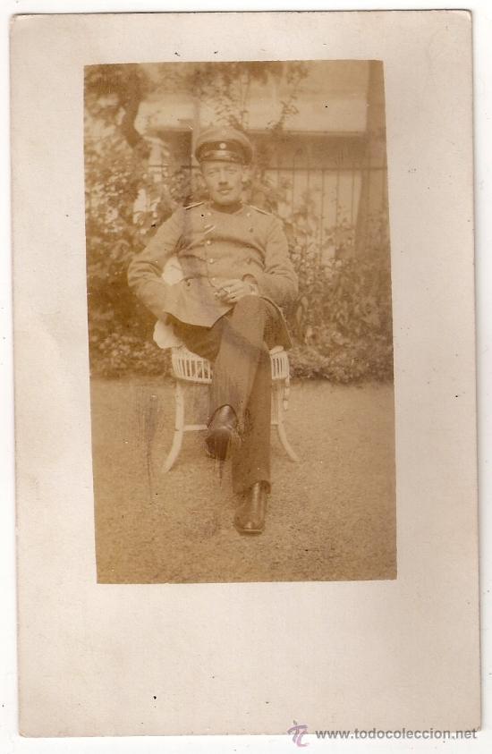 *** FOTO DE ESTUDIO DE SOLDADO IMPERIAL ALEMÁN. *** (Militar - Fotografía Militar - I Guerra Mundial)