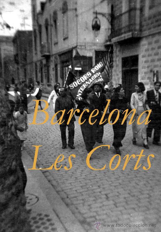 GUERRA CIVIL - BARCELONA - LES CORTS - 5 NEGATIVOS (Militar - Fotografía Militar - Guerra Civil Española)