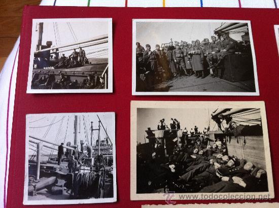 Militaria: 13 Fotos tropas alemanas en transporte maritimo - Foto 4 - 31704666