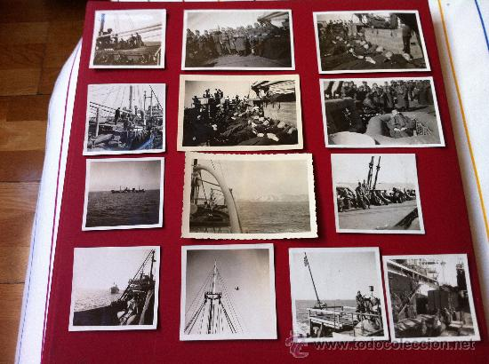 13 FOTOS TROPAS ALEMANAS EN TRANSPORTE MARITIMO (Militar - Fotografía Militar - II Guerra Mundial)