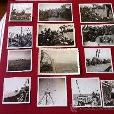 Militaria: 13 FOTOS TROPAS ALEMANAS EN TRANSPORTE MARITIMO. Lote 31704666