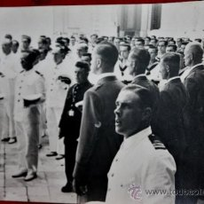 Militaria: FOTO INEDITA DE ALUMNOS DEL BUQUE ESCUELA GALATEA EN PLENA GUERRA CIVIL-INSTRUCTORES LEGION CONDOR. Lote 31727780