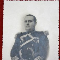 Militaria: ANTIGUA FOTOGRAFIA DE OFICIAL DE LA MARINA ESPAÑOL EPOCA DE ALFONSO XIII. Lote 32125621