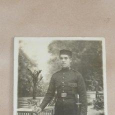 Militaria: ANTIGUA FOTOGRAFIA DE MILITAR DE PRINCIPIOS DE SIGLO XX, REGIMIENTO 63. Lote 32027139