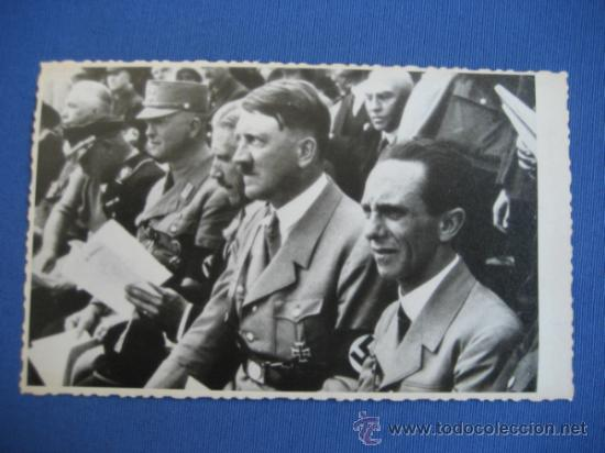 FOTO ORIGINAL ALEMANIA - HITLER - JOSEPH GOEBBELS - VON PAPEN WW2 III REICH (Militar - Fotografía Militar - II Guerra Mundial)