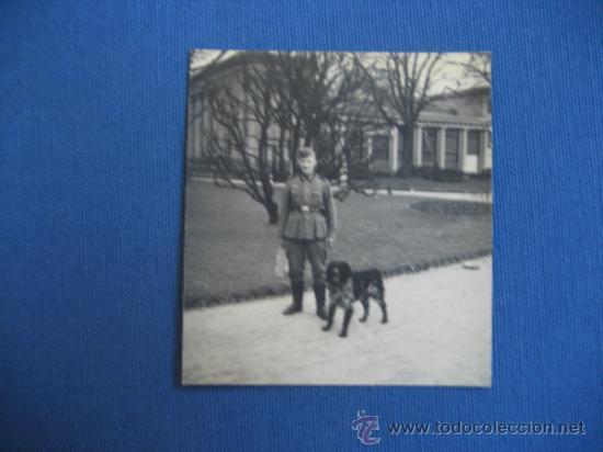 FOTO ORIGINAL ALEMANIA SOLDADO CON PERRO WW2 III REICH (Militar - Fotografía Militar - II Guerra Mundial)