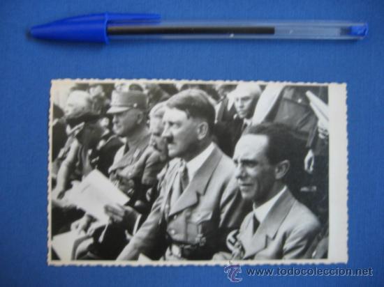 Militaria: FOTO ORIGINAL ALEMANIA - HITLER - JOSEPH GOEBBELS - VON PAPEN WW2 III REICH - Foto 2 - 32177198