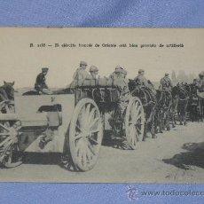 Militaria: POSTAL EL EJERTITO DE ORIENTE CON ARTILLERIA. Lote 32203905