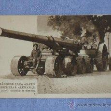 Militaria: POSTAL CAÑON BRITANICO DE GRAN CALIBRE. Lote 32203983