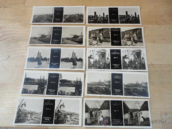 17 FOTOGRAFIAS ESTEREOSCOPICAS DE LA PRIMERA GUERRA MUNDIAL, FELDSTEREO VERLAG. DE LAS SERIES C Y D (Militar - Fotografía Militar - I Guerra Mundial)