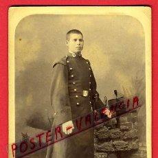 Militaria: FOTOGRAFIA MILITAR , FOTO ALBUMINA , ORIGINAL, G2. Lote 32362016
