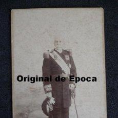 Militaria: (JX-233)FOTOGRAFIA DE GENERAL EPOCA ALFONSINA. Lote 32567239