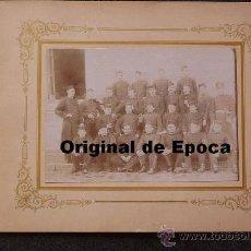 Militaria: (JX-251)FOTOGRAFIA DEL ORFEON DE ARTILLEROS DEL 2º DE MONTAÑA DE VITORIA 1903. Lote 32670216