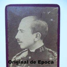 Militaria: (JX-255)FOTOGRAFIA DE D.RAMON BALLESTEROS CON UNIFORME DEL REG.DE ASIA Nº55. Lote 32675619