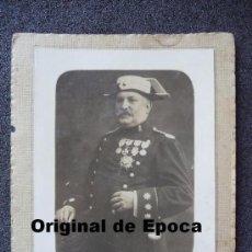Militaria: (JX-292)FOTOGRAFIA DE CORONEL DE LA GUARDIA CIVIL MEDALLA SAN HERMENEGILDO EPOCA ALFONSINA. Lote 32962973