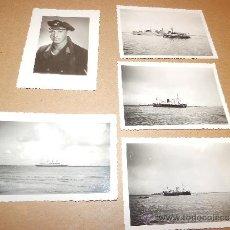 Militaria: MARINERO ALEMAN SEGUNDA GUERRA MUNDIAL 1942 + 4 FOTOS BARCOS. Lote 33075666