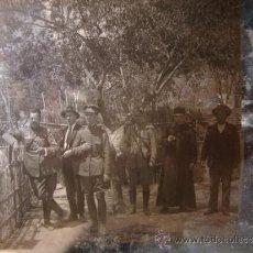 Militaria: IMPORTANTE NEGATIVO HISTORICO CRISTAL OFICIALES MILITARES GUARDIA CIVIL, GUERRA CIVIL? ALCOY, C.1936. Lote 33454153