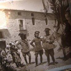 Militaria: IMPORTANTE NEGATIVO HISTORICO CRISTAL OFICIALES MILITARES GUARDIA CIVIL, GUERRA CIVIL? ALCOY, C.1936. Lote 33454303