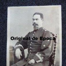 Militaria: (JX-344)FOTOGRAFIA DE OFICIAL DE REGIMIENTO DE CAZADORES SIGLO XIX. Lote 33457844