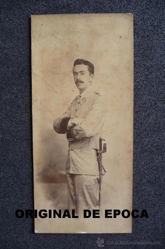 (JX-357)FOTOGRAFIA DE TENIENTE REG.Nº23 CAMPAÑA DE CUBA SR.D.GUILLERMO PERINAT Y TORREBLANCA (Militar - Fotografía Militar - Otros)