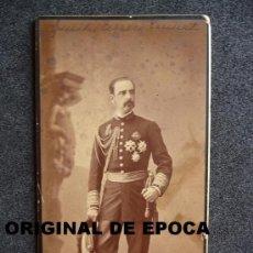 Militaria: (JX-360)FOTOGRAFIA DEL EXCMO.SR.TENIENTE GENERAL D.EMILIO TERRERO Y PERINAT REALIZADA EN MADRID. Lote 33548505