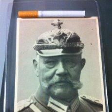 Militaria: FOTO POSTAL VON HINDENBURG. Lote 33636618