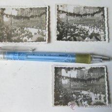 Militaria: 3 FOTOGRAFIAS DE UN DESFILE EN MELILLA EN JULIO DE 1940 - DESFILE DE LA VICTORIA. Lote 33647626