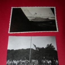 Militaria: 2 FOTOGRAFIAS CAMPAMENTO JUVENTUDES HITLERIANAS. Lote 33770071