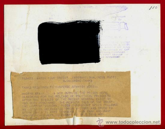 Militaria: FOTO GUERRA CIVIL, FOTOGRAFIA 1936 , MADRID CAMINO MILITAR , ORIGINAL, F110 - Foto 2 - 34185733