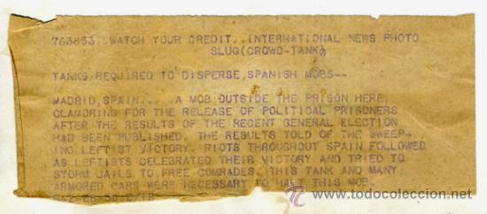 Militaria: FOTO GUERRA CIVIL, FOTOGRAFIA 1936 , MADRID CAMINO MILITAR , ORIGINAL, F110 - Foto 3 - 34185733