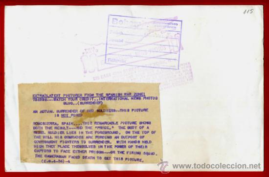 Militaria: FOTO GUERRA CIVIL, FOTOGRAFIA 4-9-1936 , ESCENA GUERRA EN SOMOSIERRA MADRID , ORIGINAL, F115 - Foto 2 - 34185995