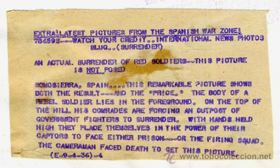 Militaria: FOTO GUERRA CIVIL, FOTOGRAFIA 4-9-1936 , ESCENA GUERRA EN SOMOSIERRA MADRID , ORIGINAL, F115 - Foto 3 - 34185995