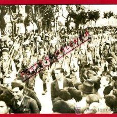 Militaria: FOTO GUERRA CIVIL, FOTOGRAFIA BURGOS , REFUERZOS REBELDES DESDE MARRUECOS 1937, ORIGINAL, F106. Lote 34185551