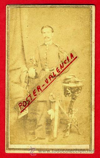 FOTOGRAFIA MILITAR, FOTO ALBUMINA TARJETA VISITA 1863 , CUBA , F106 (Militar - Fotografía Militar - Otros)