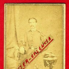 Militaria: FOTOGRAFIA MILITAR, FOTO ALBUMINA TARJETA VISITA 1863 , CUBA , F106. Lote 34197981