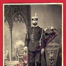 Militaria: FOTOGRAFIA MILITAR ALBUMINA 1874, FOTO G PRADOS, CON SABLE , MADRID , F116. Lote 34198217