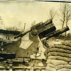 Militaria: FOTOGRAFIA I GUERRA MUNDIAL PIEZA ARTILLERIA INGLESA EN BOSQUE DE HOLNON. Lote 34233924
