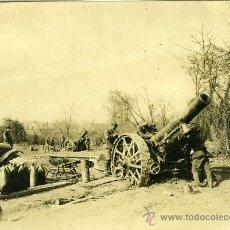 Militaria: FOTOGRAFIA I GUERRA MUNDIAL BATERIA INGLESA CON SOLDADOS. Lote 34234309