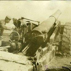 Militaria: FOTOGRAFIA I GUERRA MUNDIAL PIEZA ARTILLERIA CON SOLDADO. Lote 34234357