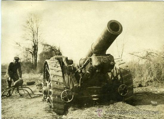FOTOGRAFIA I GUERRA MUNDIAL PIEZA ARTILLERIA INGLESA CONQUISTADA (Militar - Fotografía Militar - I Guerra Mundial)