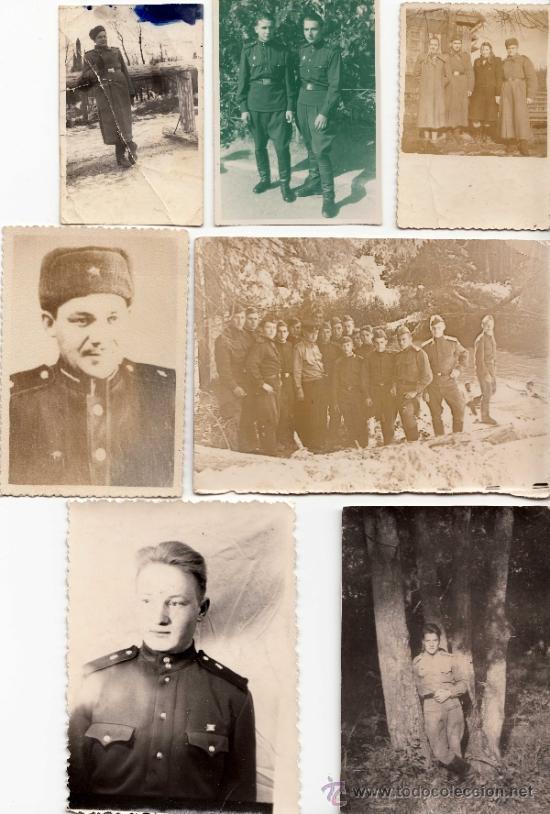 LOTE DE SIETE FOTOS DE SOLDADOS SOVIÉTICOS - CLC (Militar - Fotografía Militar - Otros)