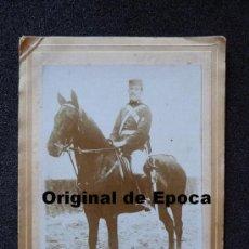 Militaria: (JX-FOTOGRAFIA DE SOLDADO DE ARTILLERIA DE SECCIONES MONTADAS EPOCA ALFONSINA. Lote 34949018